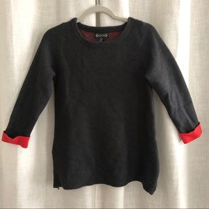 Nanette Lepore Dark Grey Sweater with Zip Accent